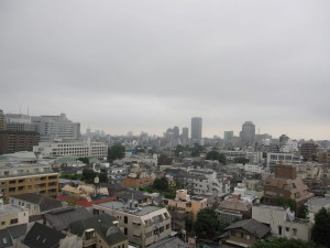 a view from a high-end apartment in Minato-ku in Tokyo