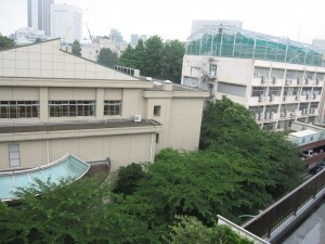 an apartment has open, overlooking views of Shibuya
