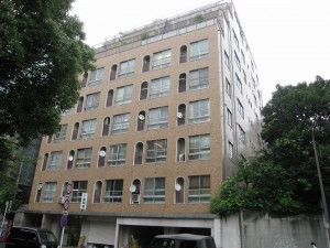 an apartment building in residential Shibuya