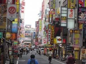 a picture of Kabukicho in a daytime