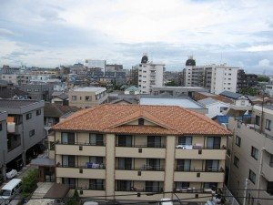 view from an 500,000,000-yen apartment building in Ichikawa