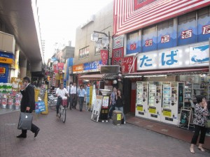 a commercial district at Heiwajima station 2