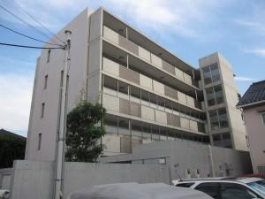 a local apartment building
