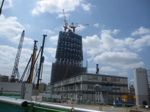 Tokyo Sky Tree under construction 3