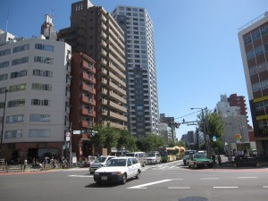 view from Shinjuku 7-chome crossing 2