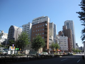 view from Shinjuku 7-chome crossing