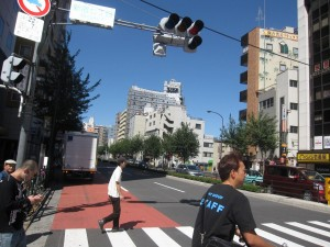 view from Shinjuku 7-chome crossing 3