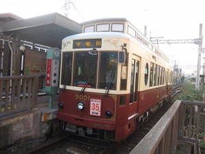 the only streetcar line survived in Tokyo