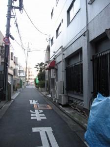 seen from Koshu Kaido (= street)