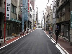 neighborhood (JR Kanda station is seen at the end)