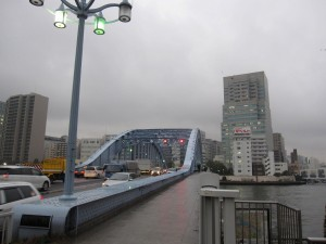 neighborhood - famous Eitai (pronounciation: A-tie) Bashi over Sumida River