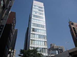 a beautiful & new office building in Ginza