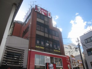 KFC is renting 1, 2, and 4F of a 5-story building