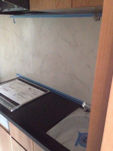 order made kitchen in the newly built apartment